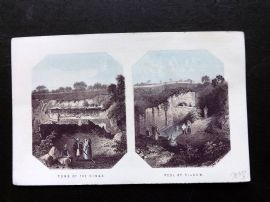 Thomson Holy Land 1863 Antique Print. Tomb of the Kings. Pool of Siloam